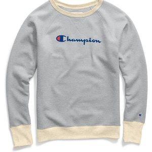 Women's Champion Applique Fleece Crewneck Sweatshi